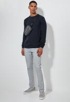 Superbalist - Lightweight tipped crew neck knit - navy