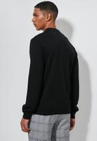 Superbalist - Zip through knit bomber - black