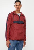 Brave Soul - Durham colour block jacket - red