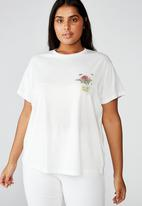 Cotton On - Curve graphic tee bees are friends - white