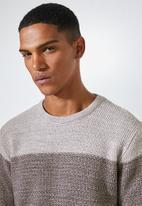 Superbalist - Block chunky crew neck knit - multi