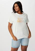 Cotton On - Curve graphic tee love more - off white