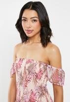 Cotton On - Woven pia shirred mini dress - pink