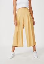 Cotton On - Luna button culotte - yellow