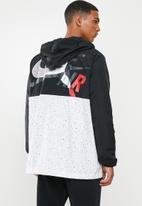 Nike - Jumpman classics windwear jacket - black & white