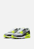 Nike - Air Max 90 - white / particle grey-volt-black