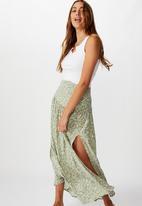 Cotton On - Nadia maxi skirt blair floral paisley - khaki & white
