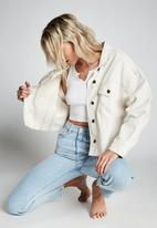 Cotton On - Os denim jacket - off white