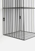 Sixth Floor - Wire wall shelf - black
