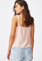 Cotton On - Pixie button through cami - pink