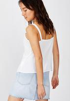 Cotton On - Pixie button through cami - white