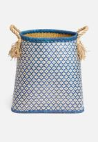 Sixth Floor - Palm leaf basket - blue
