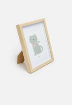 H&S - Kitty photo frame - natural