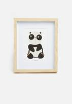 H&S - Panda photo frame - natural
