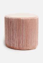 H&S - Tassel ottoman - pink