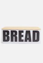 Excellent Housewares - Bread tin - black & white