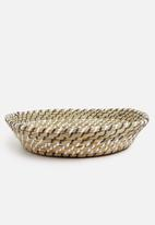 H&S - Seagrass fruit basket - black