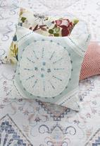 SF Collection - Pansy mandala cushion cover - blue