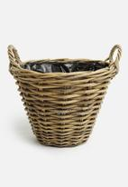 H&S - Kubu rattan basket - brown
