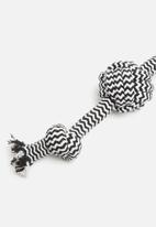 Pet Collection - Doggy rope toy 4 - black & white