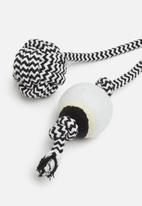 Pet Collection - Doggy rope toy 1 - black & white