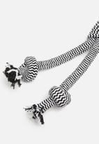 Pet Collection - Doggy rope toy 3 - black & white