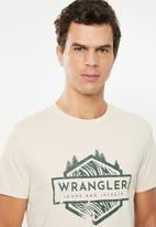 Wrangler - Forced lines short sleeve tee - neutral