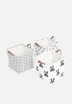 Sixth Floor - Bunny storage box - black & white