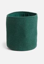 Sixth Floor - Sona cotton basket - forest green