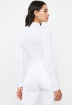 Missguided - Funnel neck top - white