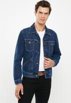 Wrangler - Denim regular fit jacket - blue