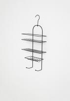 Bathroom Solutions - Hanging shower rack - black