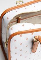 POLO - Ascot shopper - white & brown