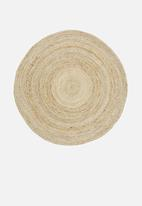 H&S - Jute braided rug - natural