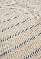 H&S - Perth jute rug - blue stripe