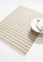 H&S - Perth jute rug - black stripe