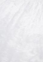 H&S - Round shaggy rug - white