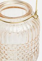 H&S - Tealight lantern - cream