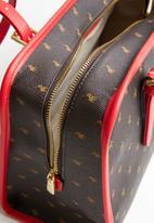 POLO - Ascot shopper - brown & red