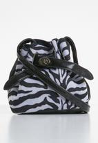 Superbalist - Zebra print bucket bag - black & white