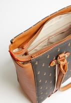 POLO - Heritage tote - brown & black