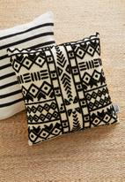 Sixth Floor - Tribal tufted cushion cover - black & white