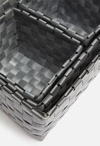 H&S - Kids storage basket set of 4 - grey