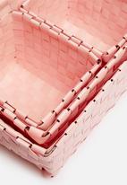 H&S - Kids storage basket set of 4 - pink