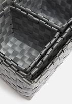 H&S - Kids storage basket set of 4 - charcoal