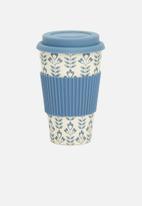 Excellent Housewares - Bamboo mug - blue