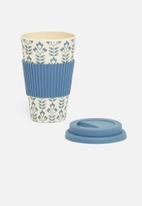 Excellent Housewares - Bamboo mug - blue
