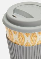 Excellent Housewares - Bamboo mug - charcoal