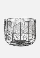 Sixth Floor - Harlow storage basket - black