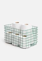 Sixth Floor - Finch wire basket - green